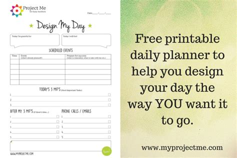printable version of when tomorrow starts without me printable day planner to help you design your day