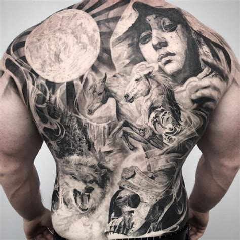 female back piece tattoo designs collection of 25 back