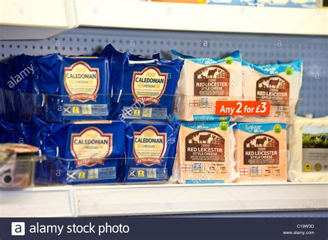 Shelf Cheese by Cheese On Display On A Supermarket Shelf Stock Photo Royalty Free Image 35252657 Alamy