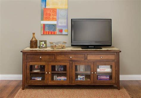 Tv Stands With Glass Doors by Amish Springfield Tv Stand With Glass Doors
