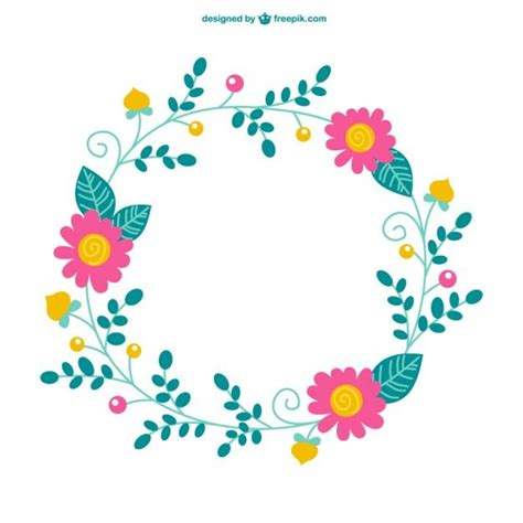 bordes descargables plantilla minimalista con flores vector gratis bordado