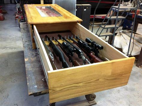 coffee table gun cabinet whitehead woodworks custom handcrafted wood creations