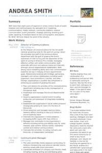 Communications Resume Exles by Director Of Communications Resume Sles Visualcv Resume Sles Database