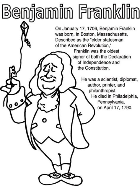 coloring book leaked early 7 best images about benjamin franklin on