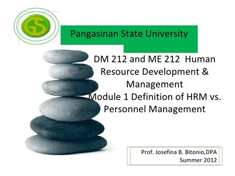 Ma Hrm Vs Mba by Module 1 Hrm Vs Personnel Management