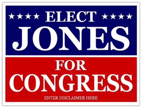 Congress Caign Signs Cheap Political Sign Election Caign Template