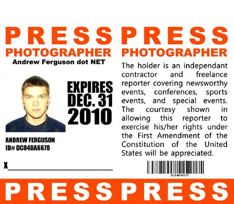 Free Press Pass Template sle press passes el vaquero graphics team