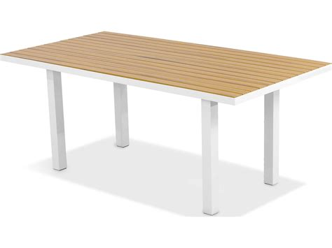 polywood 174 plastique 72 x 36 rectangular dining table