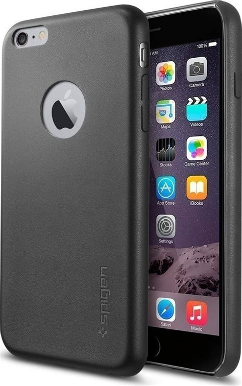 Iphone 6 6s Spigen Leather Fit Black spigen leather fit black iphone 6 6s plus skroutz gr