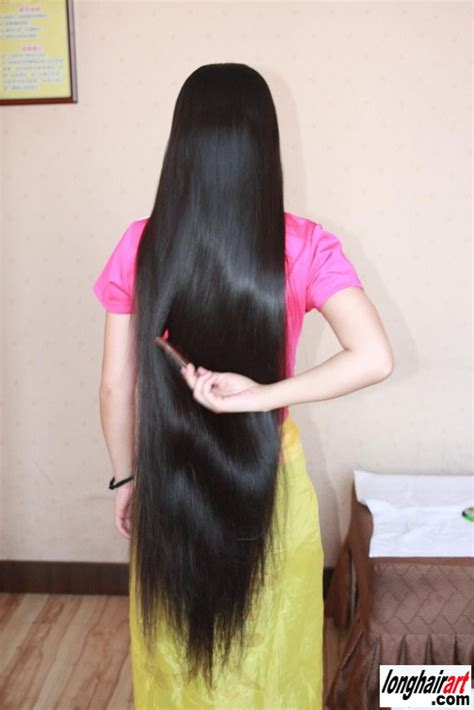 photos of lovely dark black long silky hairs of indian chinese girls in braided pony styles silky long black hair longhairart long healthy hair
