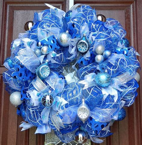 blue and white christmas decorations fishwolfeboro