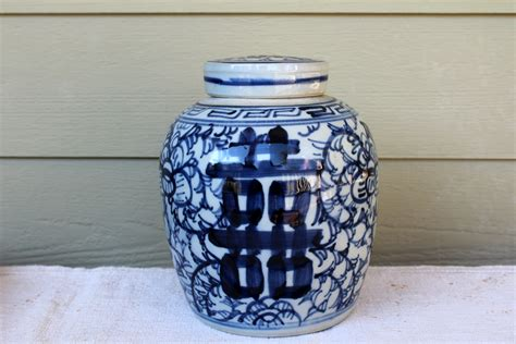 white ginger jar l ginger jar blue and white ginger jar chinoiserie jar 1