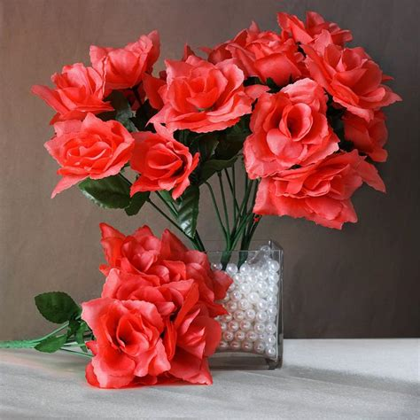 Discount Silk Wedding Flowers by 252 Open Roses Wedding Wholesale Discount Silk Flowers