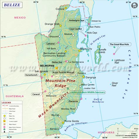 where is the map map of belize belize map