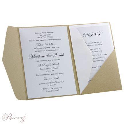 wedding invitations diy australia wedding invitations a6 folio pocket fold pouch recylced