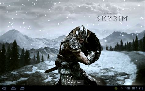 like skyrim for android skyrim live wallpaper v 1 0 android скачать