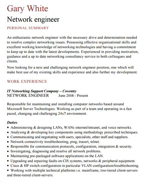 free network engineer resume sles network engineer resume sles image collection exle resume ideas fashionforlifesl org