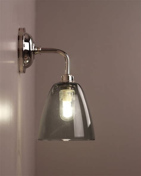all modern bathroom lighting smoked glass bathroom wall light pixley retro