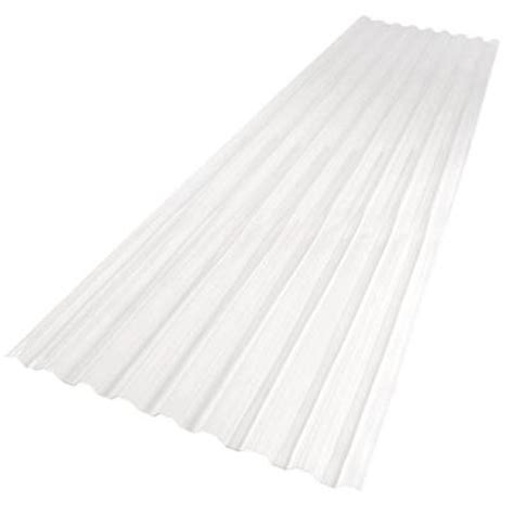 Clear Corrugated Plastic Roof Panel Home Depot