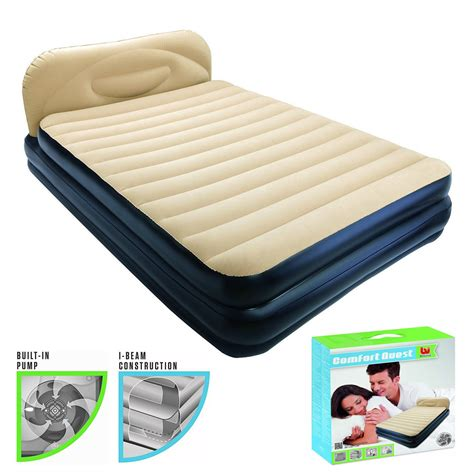 comfort quest air mattress bestway inflatable comfort quest soft back elevated air