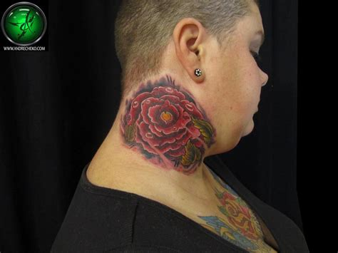 rose on neck tattoo the map tattoos family neck