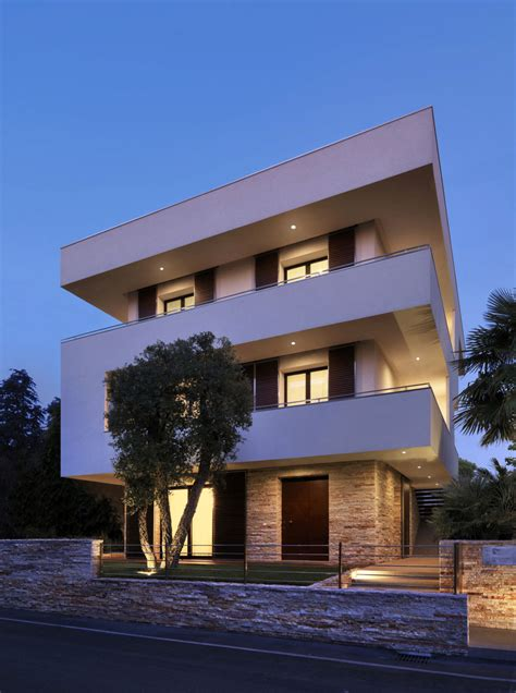 italian design houses italian maze house with geometric exterior sliding