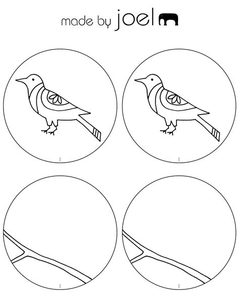 thaumatrope template printable made by joel 187 bird thaumatrope