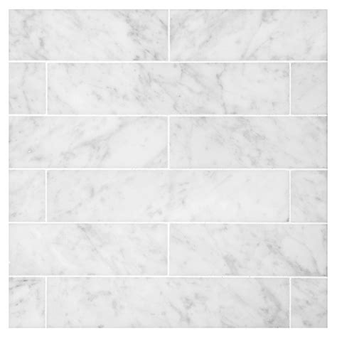 Modern Kitchen Countertops And Backsplash by Carrara Polished 2 Quot X 9 Quot Natural Stone Marble Tile