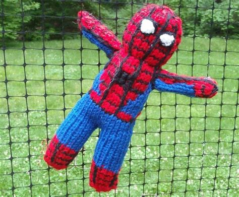 spiderman pattern knitting spiderman toy knitting pattern by stana d sortor