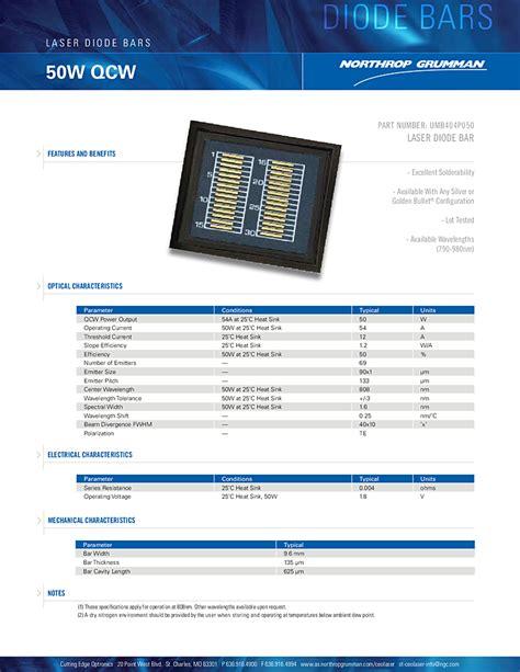 diodes ceo 50 watt nir laser 808nm laser diode bar northrop grumman ceo diode lasers