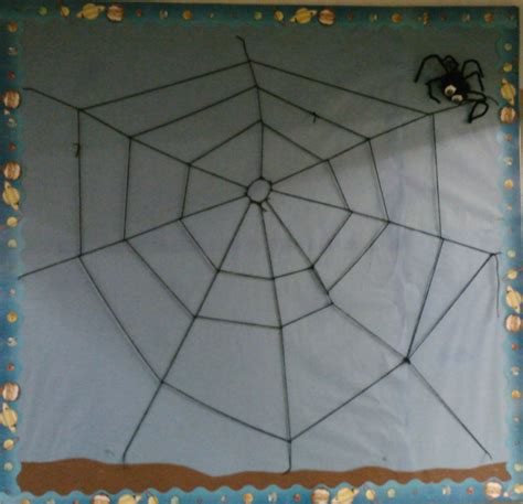 How To Make A Paper Spider Web - bulletin boards in spontaneous speech