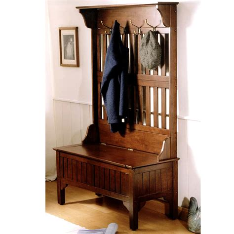 hall tree bench antique antique hall tree with storage bench best storage design