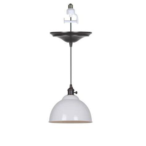 instant pendant light adapter home decorators collection canady 1 light glossy white