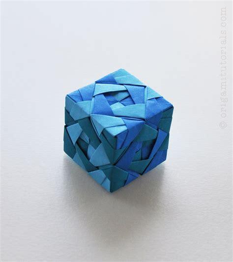 Origami Cube - sonobe cube l tutorial origami tutorials
