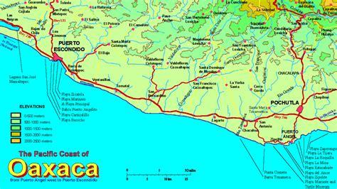 oaxaca mexico map oaxaca mexico map