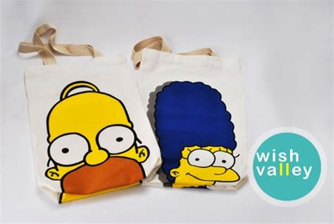 Name Simpsons Bag by Wish Valley Homer And Marge Bag