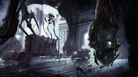 gamers art wallpaper video games robots dishonored game art wallpaper