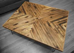 herringbone coffee table rh timber