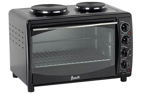 avanti black multi function small electric oven mkbb