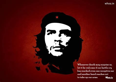 Che Guevara Face And Quotes With Red Background HD Wallpaper