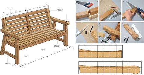 come costruire una panchina in legno arredo giardino fai da te come costruire una panca e