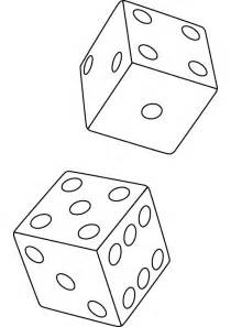 Dice Coloring Picture sketch template