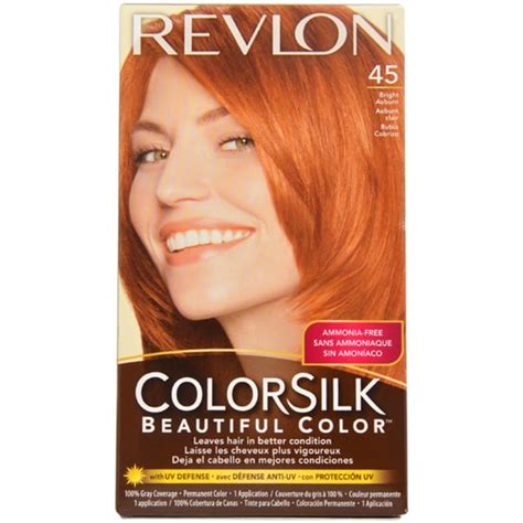 hair color for 45 revlon colorsilk beautiful color 45 bright auburn hair