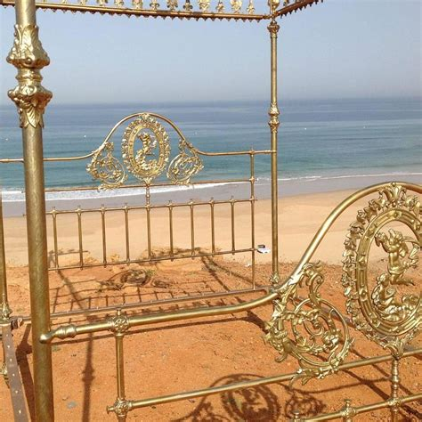 brass canopy bed wide brass four poster bed with crown and canopy m4p19 at