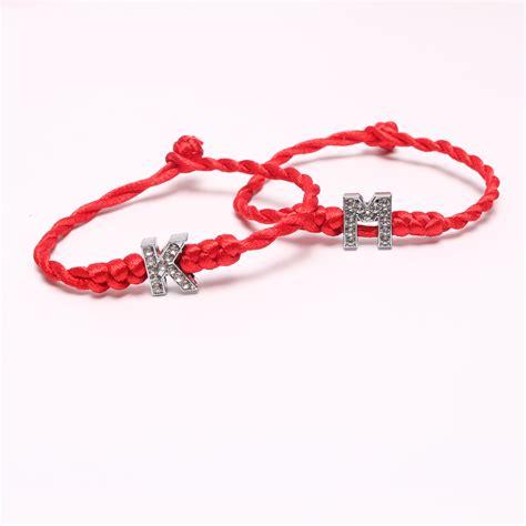 letter for bracelets cord charm letter bracelet free shipping worldwide