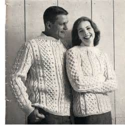 Mens misses irish fisherman sweater knitting pattern