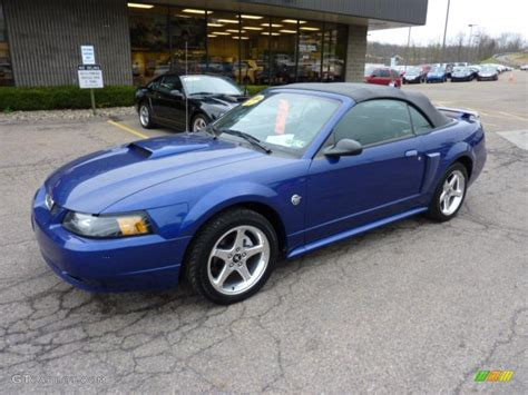 sonic blue metallic 2004 ford mustang gt convertible