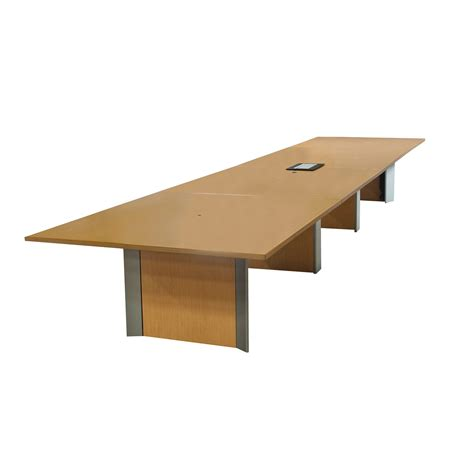 Teknion Conference Table Teknion Audience Used 20ft Laminate Conference Table Light Oak National Office Interiors And