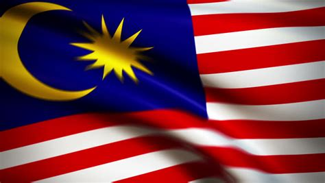film malaysia gemilang national flag of malaysia waving in the wind background