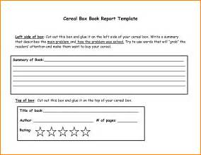 Cereal Box Book Report Template Download 8 cereal box book report template resume reference